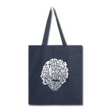 Einstein Quote (Tote Bag) - navy