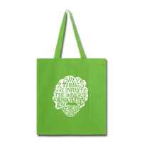 Einstein Quote (Tote Bag) - lime green