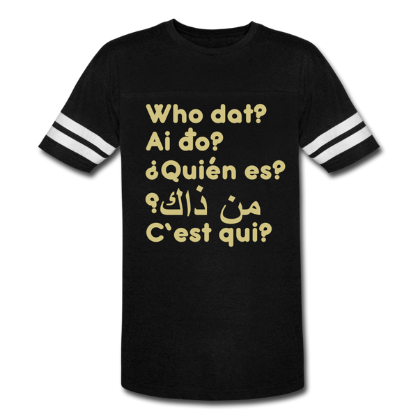 We are ALL dat Round (Vintage Sport T-Shirt) - black/white