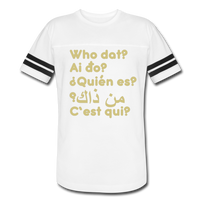 We are ALL dat Round (Vintage Sport T-Shirt) - white/black