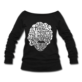 Einstein Quote (Women's Wideneck Sweatshirt) - black