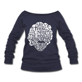Einstein Quote (Women's Wideneck Sweatshirt) - melange navy