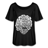 Einstein Quote (Women's Flowy T-Shirt) - black