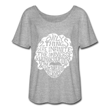 Einstein Quote (Women's Flowy T-Shirt) - heather gray