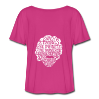Einstein Quote (Women's Flowy T-Shirt) - dark pink