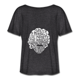 Einstein Quote (Women's Flowy T-Shirt) - charcoal gray
