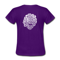 Einstein Quote (Women's T-Shirt) - purple
