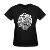 Einstein Quote (Women's T-Shirt) - black