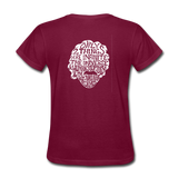 Einstein Quote (Women's T-Shirt) - burgundy
