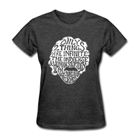 Einstein Quote (Women's T-Shirt) - heather black