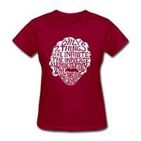 Einstein Quote (Women's T-Shirt) - dark red