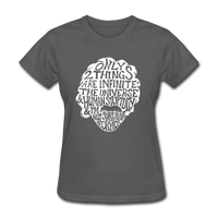 Einstein Quote (Women's T-Shirt) - charcoal
