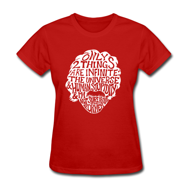 Einstein Quote (Women's T-Shirt) - red