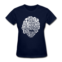 Einstein Quote (Women's T-Shirt) - navy