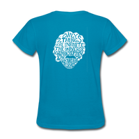 Einstein Quote (Women's T-Shirt) - turquoise