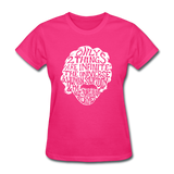 Einstein Quote (Women's T-Shirt) - fuchsia