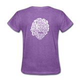 Einstein Quote (Women's T-Shirt) - purple heather