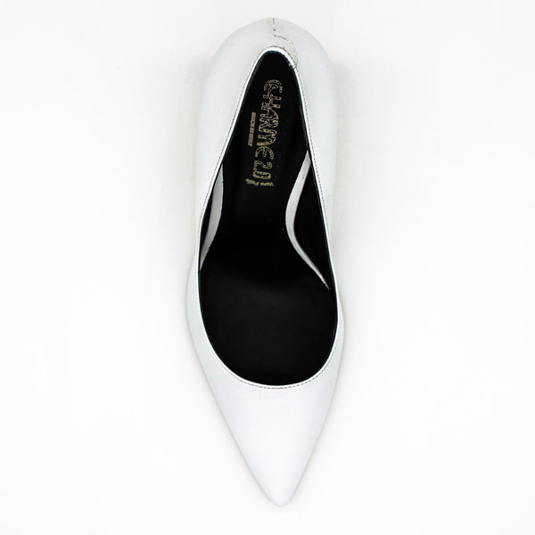 womens white pumps