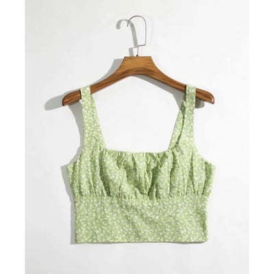 Marie Shirred Crop Top