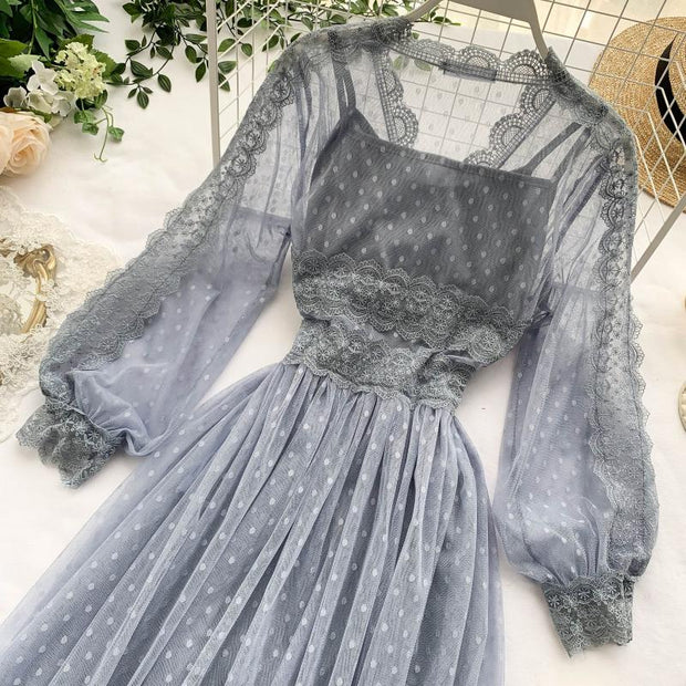 Adalynn Lace Mesh Dress