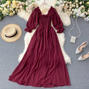 Andrea Shirred Puff Sleeve Dress