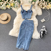 Georgia Denim Two Piece Set