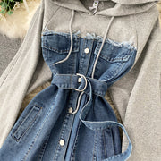 Renee Hoodie Denim Dress