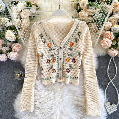 Rose Knit Cardigan