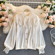 Kaitlyn Lace Puff Sleeve Top