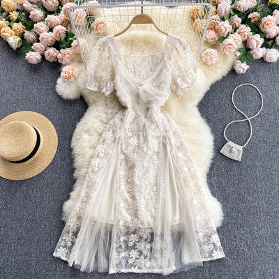 Willa Embroidered Lace Dress