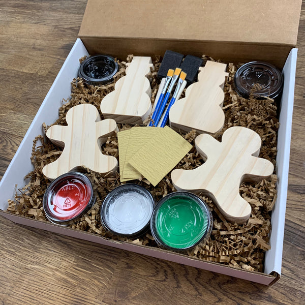 Gingerbread + Snowman DIY Paint Kits