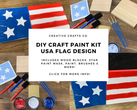 USA Flag DIY Paint Craft Kit
