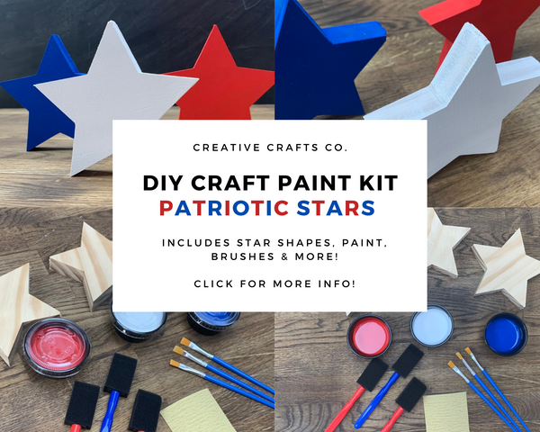 Patriotic Stars DIY Paint Craft Kit