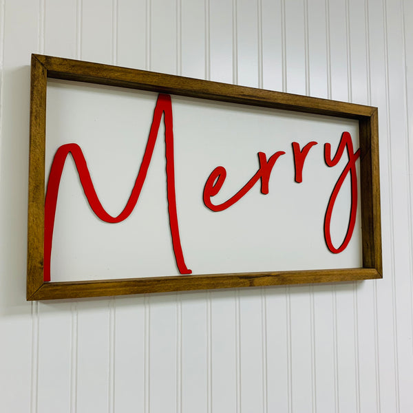 Merry Sign - Ready to Hang