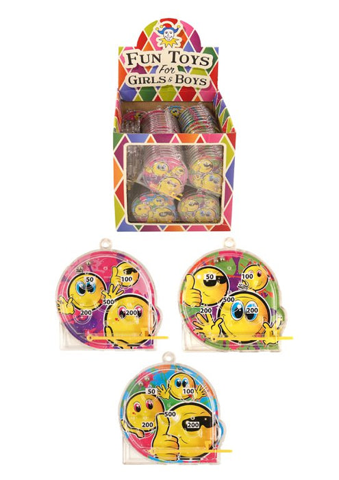 Mini Smiley Face Pinball Puzzle Games (5.5x5.8cm)