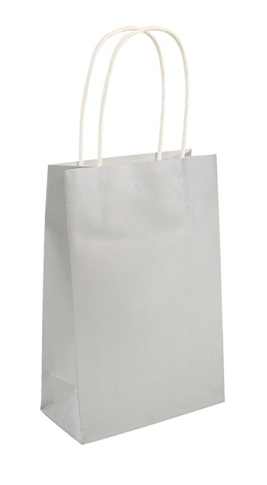 Party Bag Silver With Handles