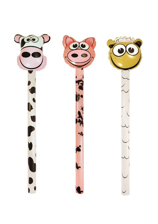 Inflatable Farm Stick 3 Assorted Designs (118cm)