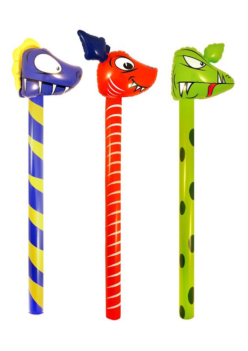 Inflatable Dinosaur Stick 3 Assorted Designs (118cm)