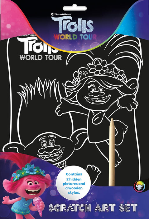 Trolls Scratch Art Set