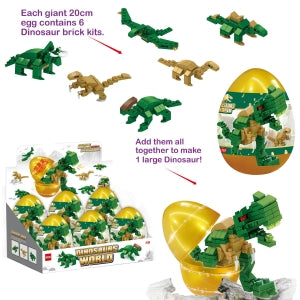 Dino Building Bricks Giant Egg 21x13cm