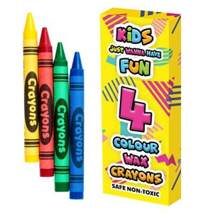Wax Crayons Coloured 4 Pack