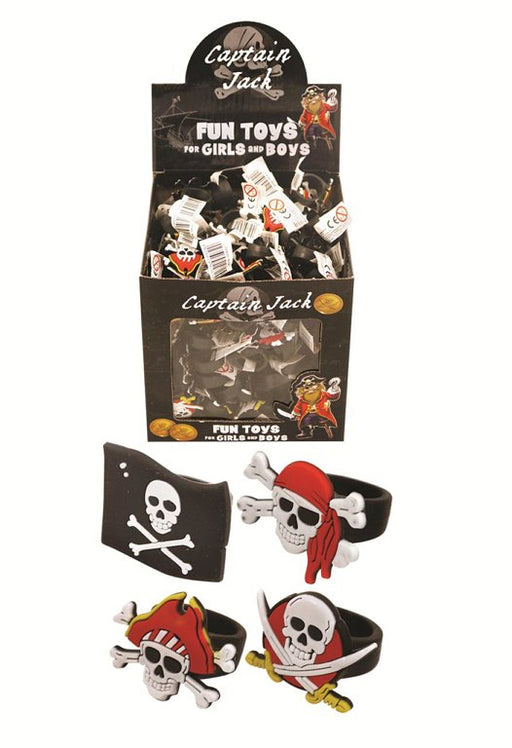 Skull and Crossbones Pirate Rings (Assorted Designs)