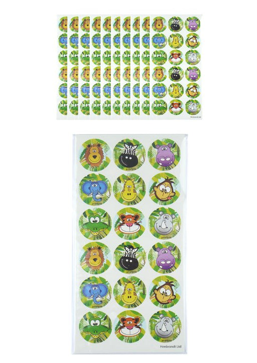 15 Large Jungle Sticker Sheets (18 stickers per sheet)