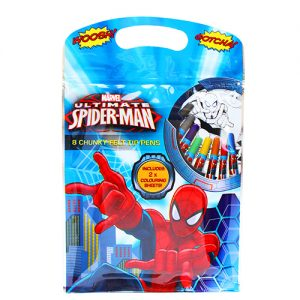 Spiderman Pack 8 Chunky Wax Crayons