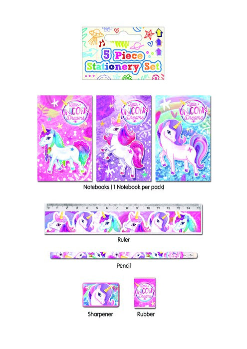 Unicorn Stationery Sets 5pc