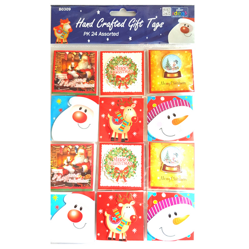 Christmas Gift Tags Hand Crafted Pk 24