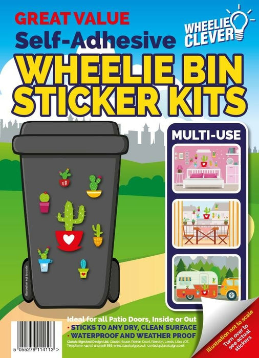Cactus Wheelie Bin Sticker Kit