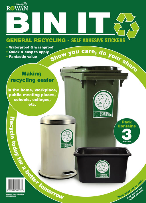 General Recycling - Self Adhesive Stickers
