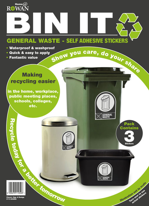 General Waste - Self Adhesive Stickers