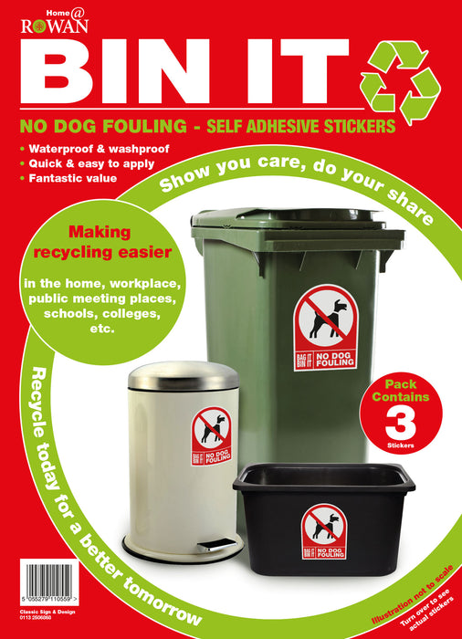 No Dog Fouling - Self Adhesive Stickers
